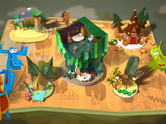 Кадры из игры «Бумажки»